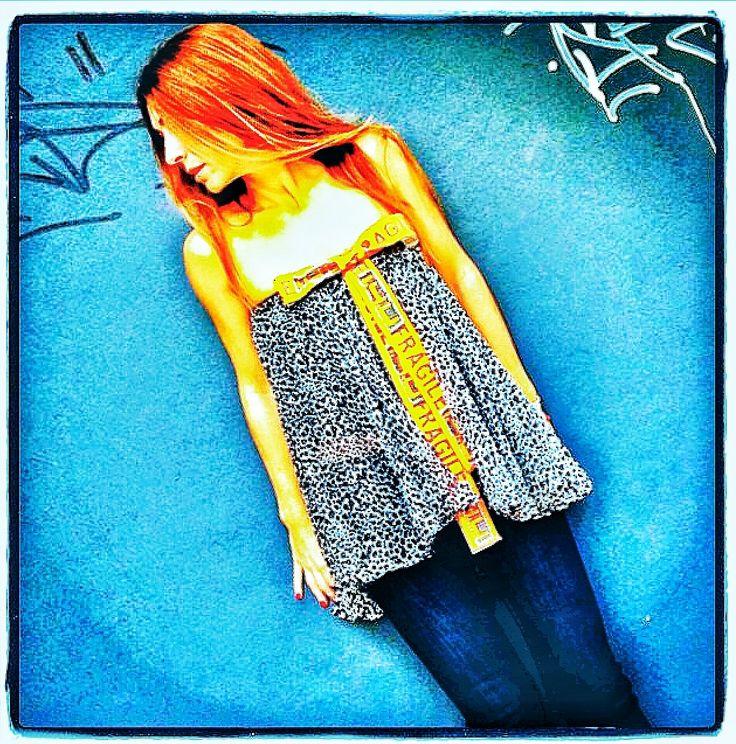 Denim mood...  Limited Edition Fragile Silk top... Hand Embellished with Swarovski Crystals.   www.14u-fashion.com