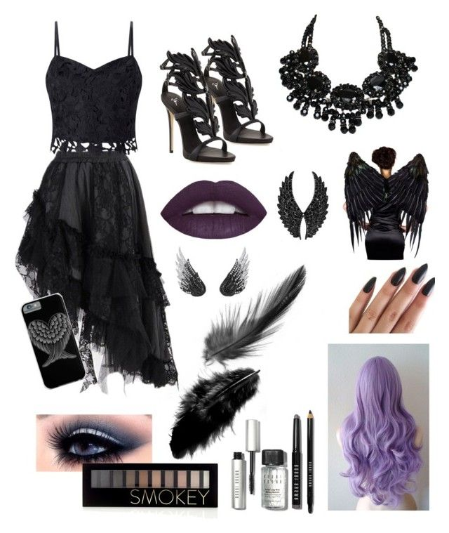 """""""Dark Angel Costume Gala"""" by queenkhushi ❤ liked on Polyvore featuring art"""