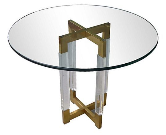Mid Century Chrome U0026 Brass Table Attrib.Charles Hollis Jones | Modernism