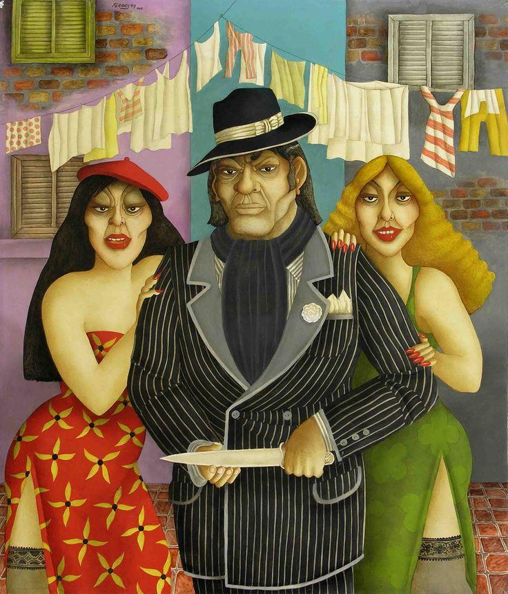 El Títere (2005) - Óleo s/tela 117 x 100
