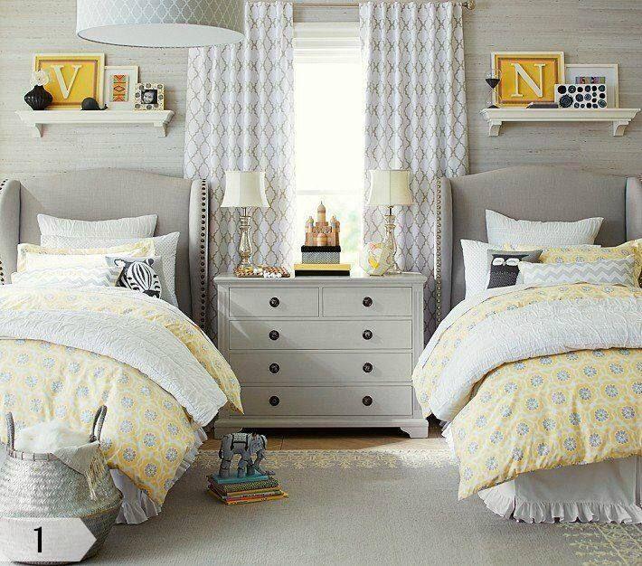 17 meilleures id es propos de rideaux g om triques sur pinterest rideaux rideaux de salon - Chambre jaune et blanche ...