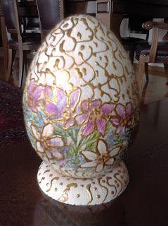 Πασχαλινό αβγό με ντεκουπάζ