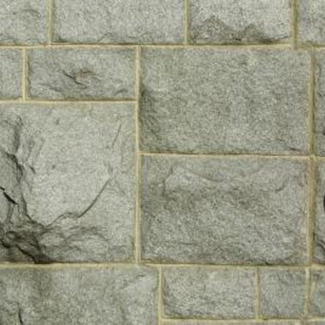 Create The Appearance Of A Stone Wall Without The Cost By Painting Faux Stone Fake Stone Wall Diy Stone Wall Stone Walls Interior