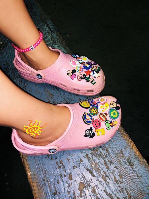 Pink crocs, Crocs, Crocs fashion