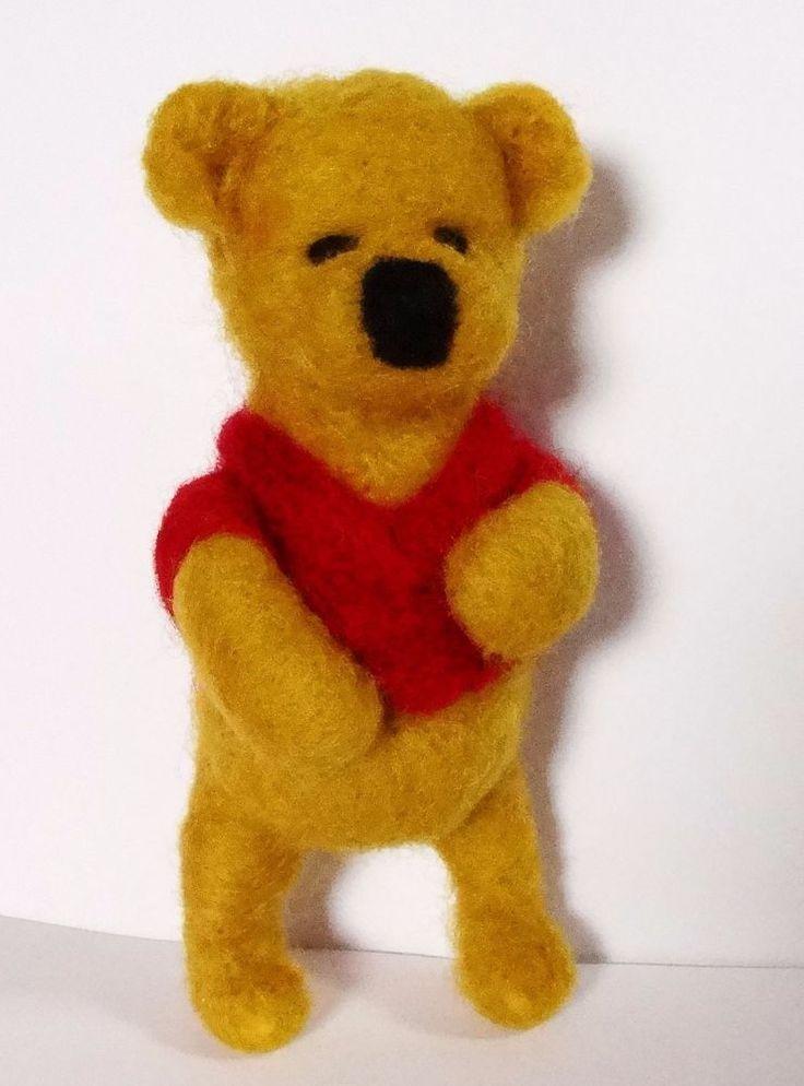 sweet BEAR  needle felted miniature beautiful animal toys  handmade #3 #nutka_art #AllOccasion