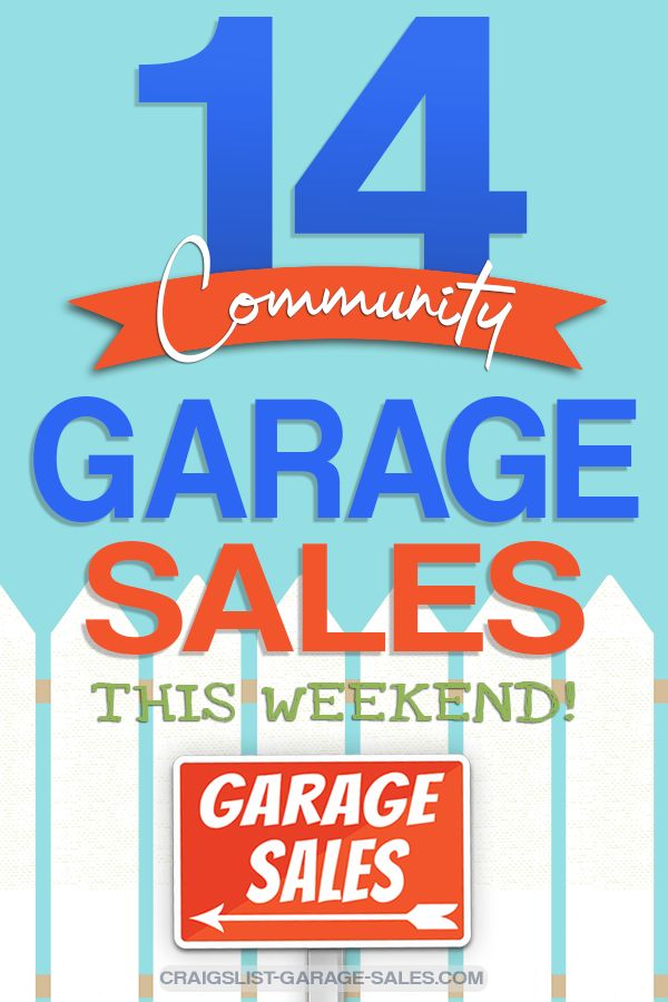 Calendar Of City Wide And Neighborhood Garage Sales Neighborhood Garage Sale Community Garage Sale Garage Sales