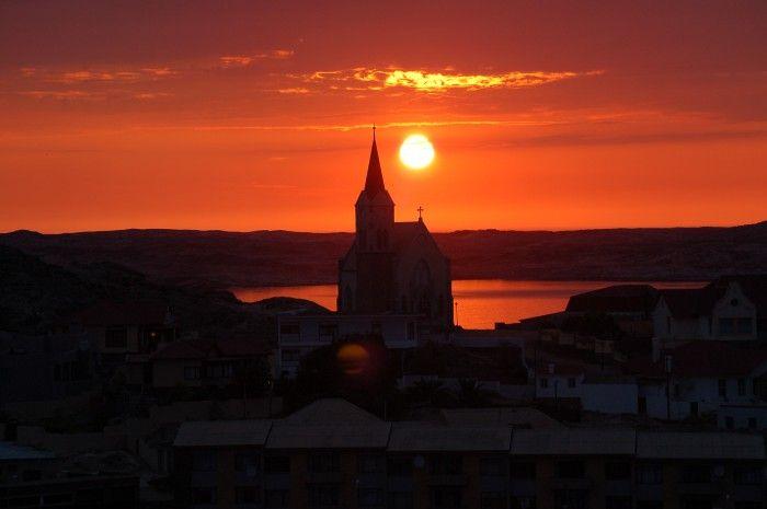 Heavenly Sunset - taken at Luderitz.  Image: Hertha Syvertsen