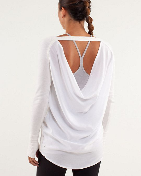 Pretty sure that I need this top!  Oh how I love Lululemon  Unity Pullover