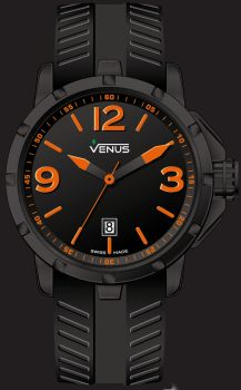 Matt black with orange super luminous Arabic numerals and indexes VE-1312A2-22O-R2