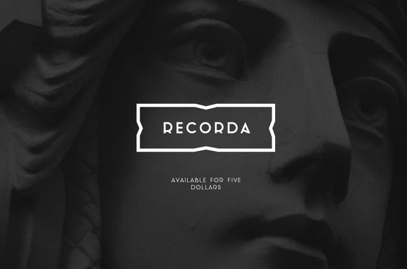 RECORDA Typeface by girtsulmanis on Creative Market