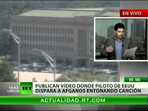 Matar al son de 'Bye Bye Ms. American Pie'. En la web publican un video en el que un piloto de un helicóptero del ejército de EEUU dispara un proyectil contra un grupo de afganos repitiendo el estribillo de una famosa canción.