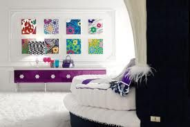 White with pop of purple