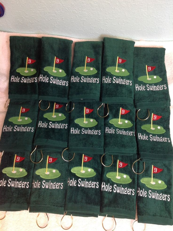A personal favorite from my Etsy shop https://www.etsy.com/listing/221321981/personalized-golf-towel-monogrammed-golf