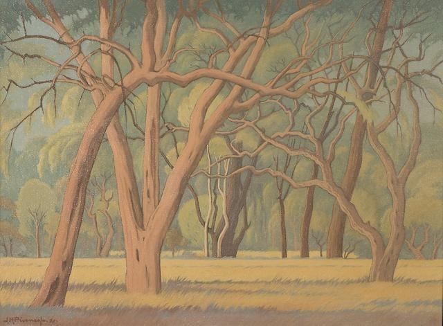 Jacob Hendrik Pierneef (South African, 1886-1957) Oerwoud, Kruger Park