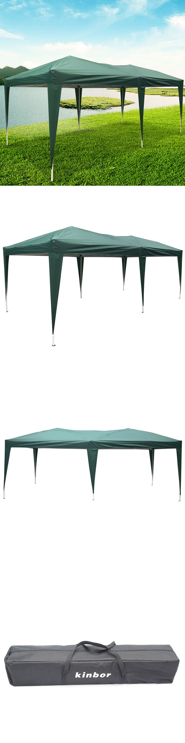 Awnings and Canopies 180992: 10'X20' Waterproof Tent Heavy Duty Outdoor Folding Gazebo Party Canopy, Green -> BUY IT NOW ONLY: $115.99 on eBay!