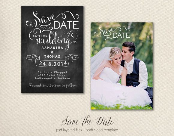 Check out Save the Date Card Template 5x7 by BrownLeopard on Creative Market  $8