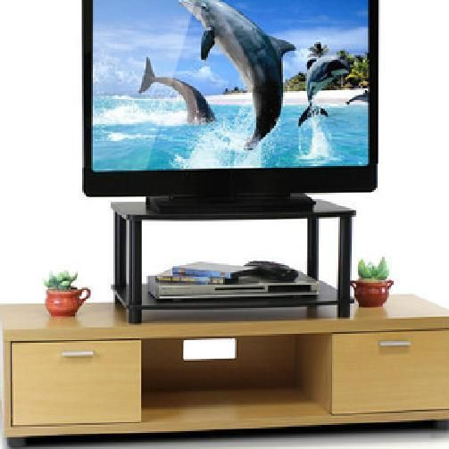 "24"" flat screen tv stand solid wood table top entertainment unit base sale new #tvstand"