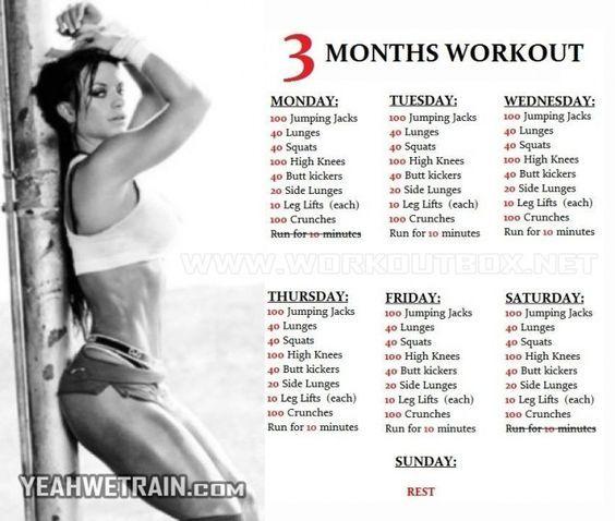 3 Months Workout Plan for Women - @Kenzie Dulmes