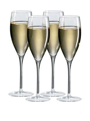 Ravenscroft Crystal Set of 4 Champagne Glasses, 8-Oz.