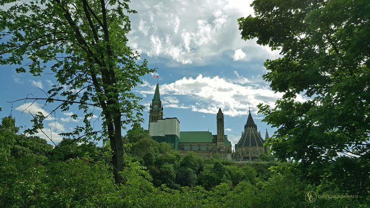 """""""Parlimentary restoration"""" - I took this mobile phone photo of the Majestic Parliament Hill in Majors Hill park, Ottawa, ON, CAN. https://twitter.com/garycorcoranart 2016 Gary Corcoran Arts"""