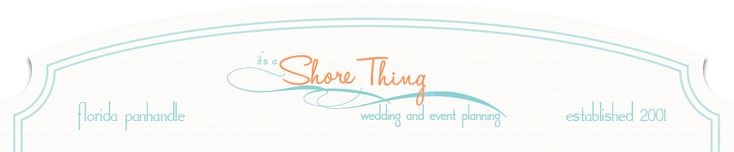 It's a Shore Thing | Full Service Destination Wedding Coordinators | Rosemary Beach Florida logo