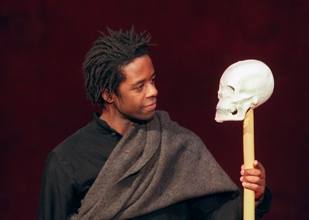 Adrian Lester played Hamlet in a production directed by Peter Brook at the Bouffes du Nord theatre in Paris in 2000. Photograph: Jean-Pierre Muller/AFP