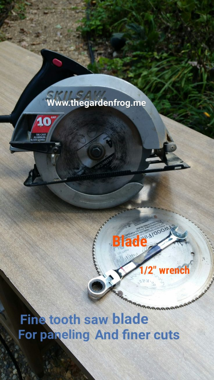 8 best circular saw blades images on pinterest circular saw how to change a circular saw blade especially if you have an older skilsaw greentooth Image collections