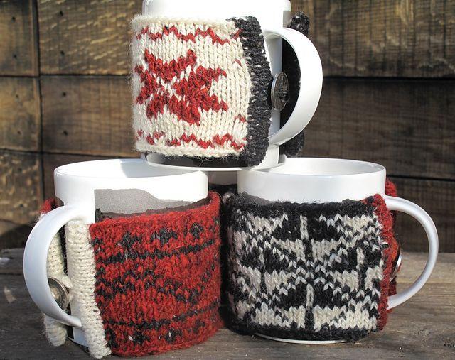 Ravelry: Three Scandinavian Mug Cosies pattern by Juliet Bernard