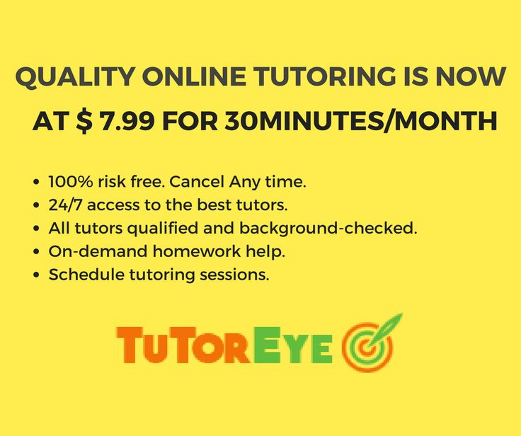 Quality Online Tutoring is Now at$7.99 for 30 Minutes/Month