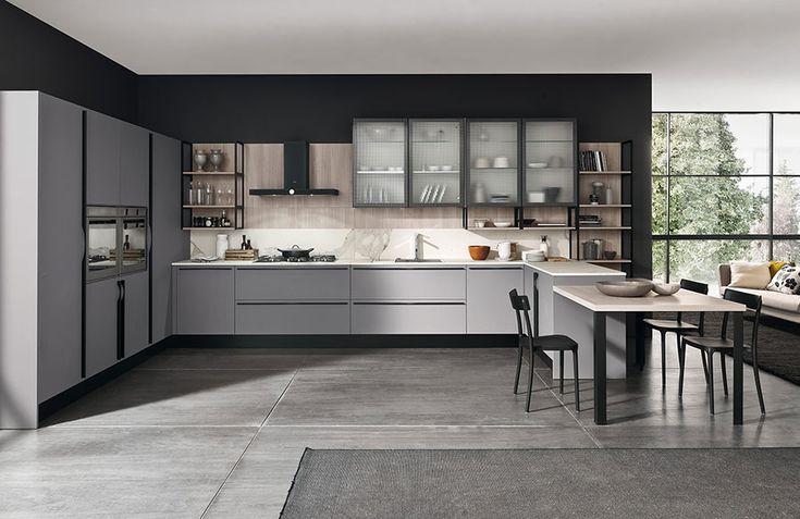 Cucina moderna grigia Febal 01