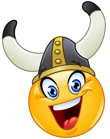 This adorable Viking smiley makes for a great mascot.
