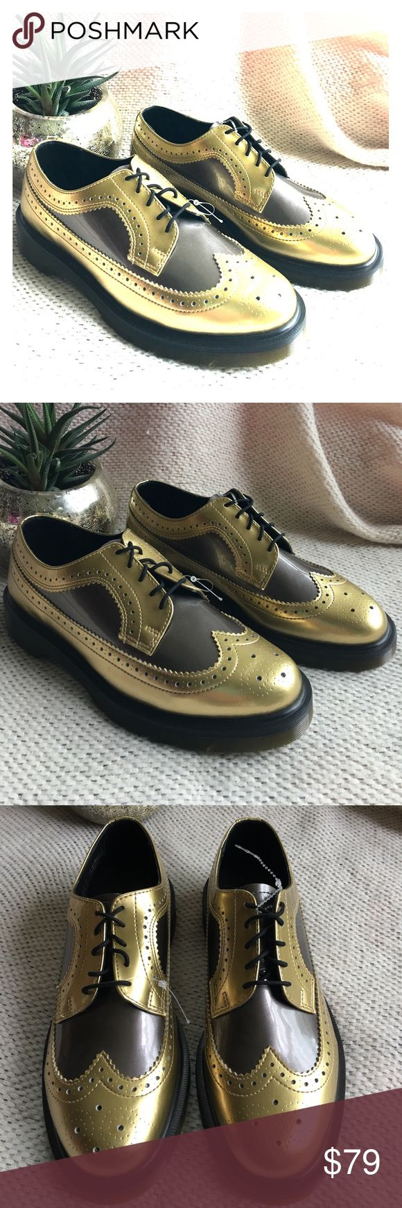 NWOT Dr. Martens Gold Air Wair Oxfords New without tag; store overstock - plastic tag attachments still attached; Dr. Martens Air Wair Gold Oxfords (if you go onto their site the size chart states that the EU 41 is equal to a US 9 Dr. Martens Shoes