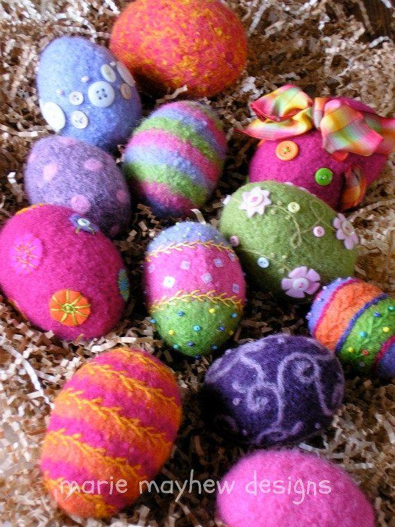 PATTERN-BOOKLET. A Knit & Felt Wool Eggs by woollysomething