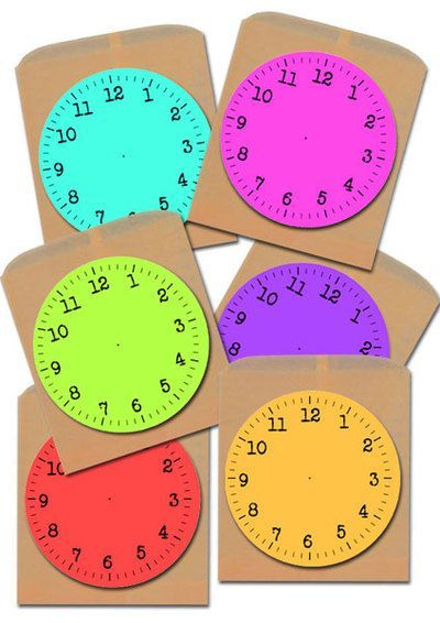 Devise a countdown to New Years game for the kids using these printable Clock Faces.