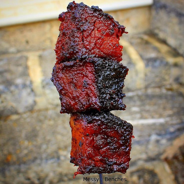 Burnt ends in Lanes BBQ Ancho Espresso. Bathed in a mix of our Espresso BBQ Sauce, butter and honey. All aboard the Weber Smokey Mountain