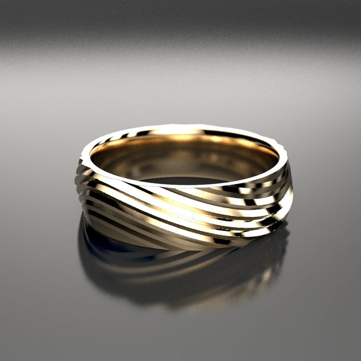 Gorgeous Wave Ring that undulates like the ebb and flow of tides. Very sculptural peaks and valleys lend to a modern feel, yet the curves help soften the look for a great everyday wear piece. (Shown here is the yellow gold version.) Ring Specs: ● 6mm width ● 1.5mm Thickness- good weight, sturdy construction ● Recycled gold (10k-14k, yellow, rose, white), Palladium, or Platinum This 6mm wide wedding band is made from recycled gold, palladium, or platinum and is handmade with a comfort fit…