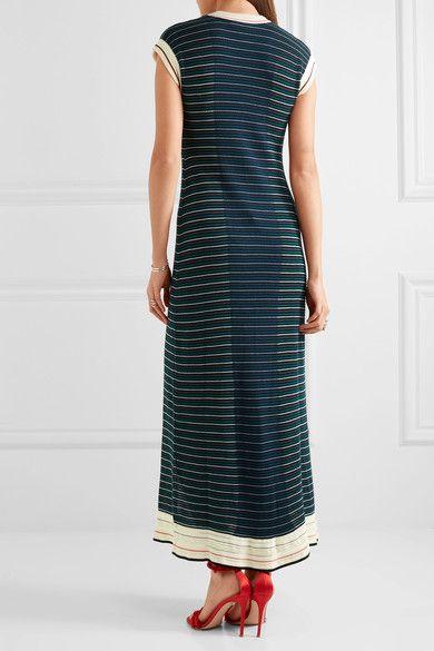 Sonia Rykiel - Striped Cotton-blend Maxi Dress - Blue -