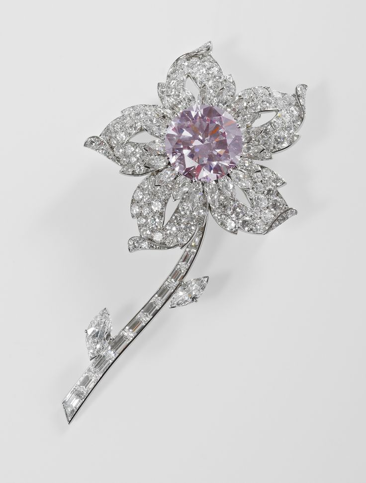The Williamson brooch - one of the largest and finest Pink Diamonds ever found . Gifted to HM Queen Elizabeth II