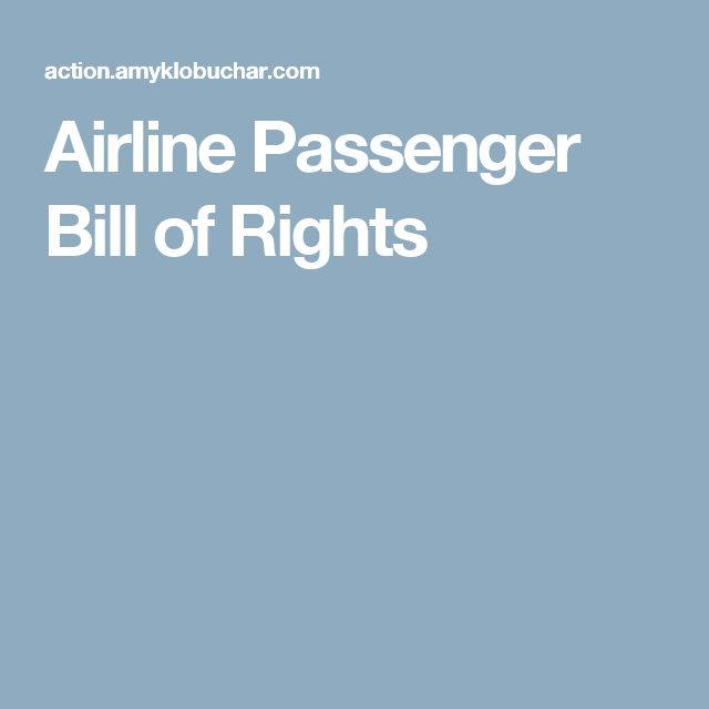 Airline Passenger Bill of Rights