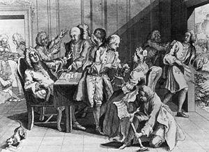 Robert Jenkins, sans ear.  The War of Austrian Succession or The War of Jenkins' Ear