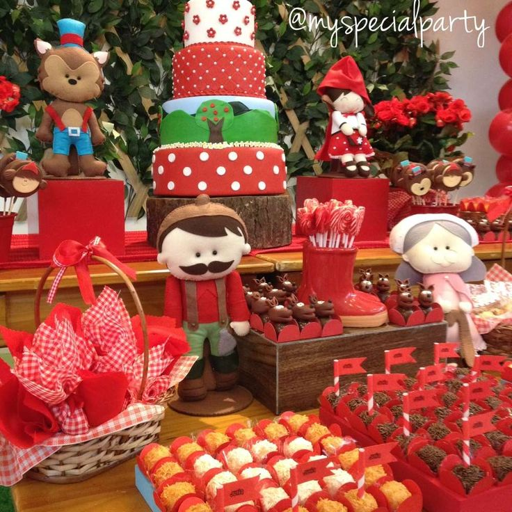Little Red Riding Hood Birthday Party Ideas   Photo 2 of 9   Catch My Party