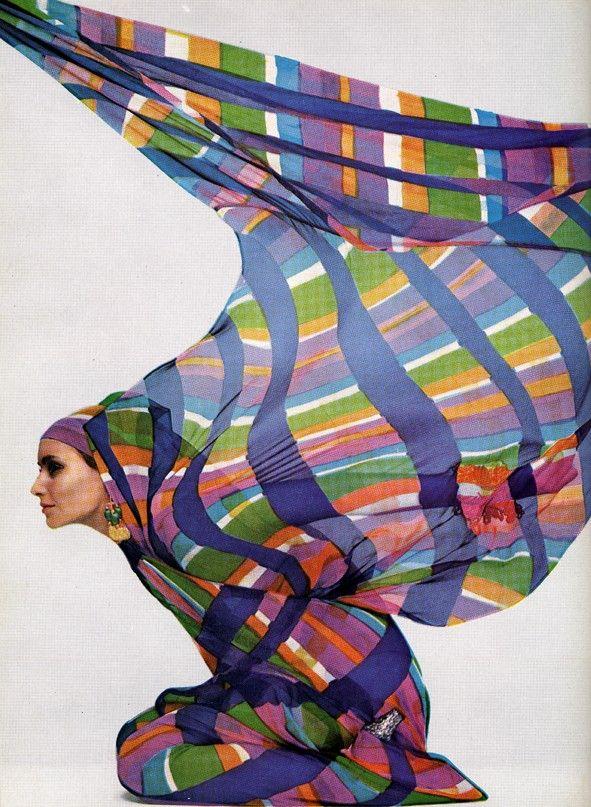 harper's bazaar, 1968 photograph by guy bourdin - wow sweet colors & motion!