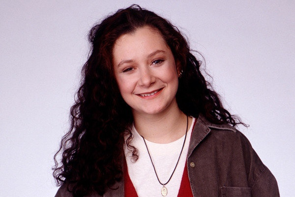 """Sara Gilbert, 2010  Sara Gilbert, pictured here during the filming of """"Roseanne,"""" came out during a panel discussion for her CBS show """"The Talk."""""""