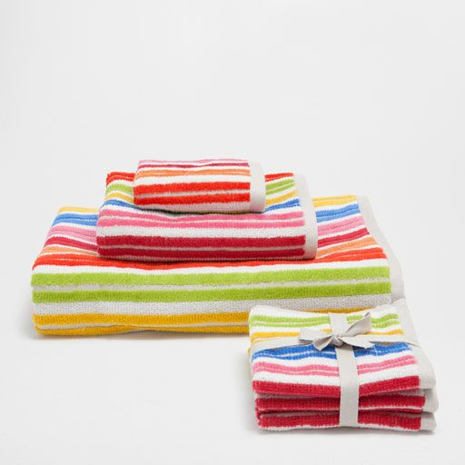 Image of the product STRIPED VELVET COTTON TOWEL