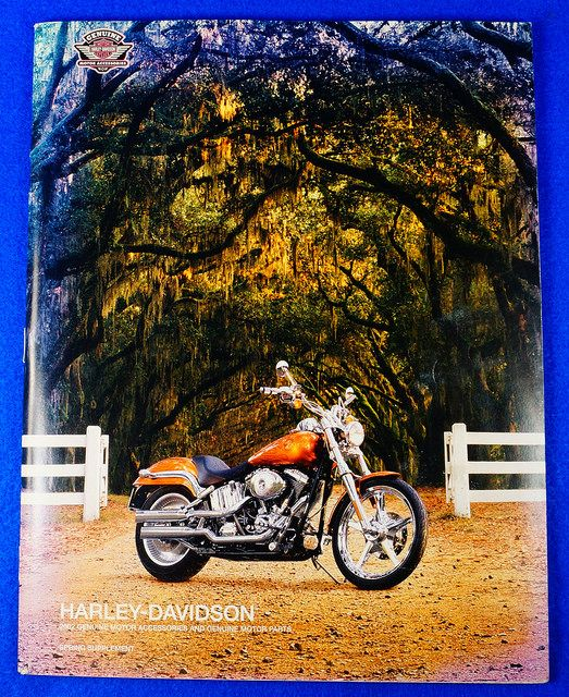 2002 HARLEY-DAVIDSON GENUINE MOTOR ACCESSORIES & GENUINE MOTOR PARTS Catalog  RD9980  Go back to Tin Can Alley - FOR SALE: http://www.bagtheweb.com/b/PBdAfQ
