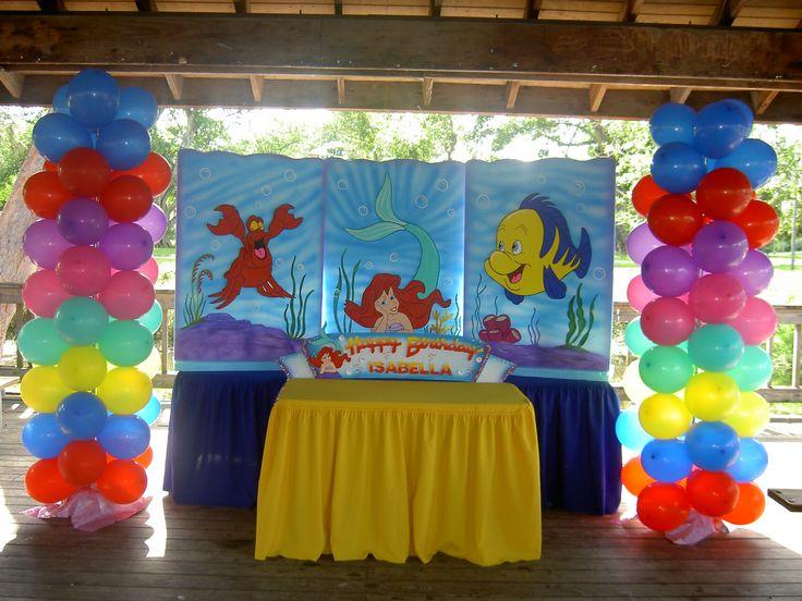 103 best little mermaid party ideas images on pinterest for Ariel decoration ideas