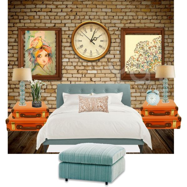 17 best images about our blue orange bedroom on pinterest for Blue and orange room