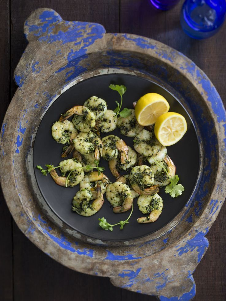 Thermomix | Spiced coriander prawns | Flavours of India | Cookbook & recipe chip |