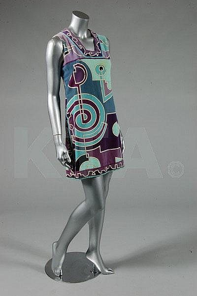 A Pucci purple and blue velvet tunic, 1960s