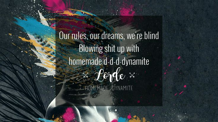Lorde - Homemade Dynamite ■ lyrics song quote melodrama ■ bg: https://wallpaperscraft.com/download/face_paint_explosion_imagination_61857/2560x1440